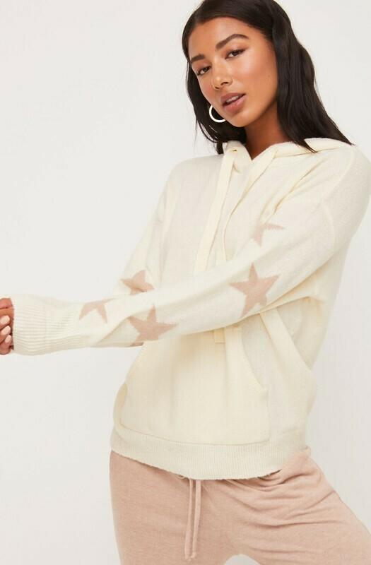 Star Hoodie-Cream