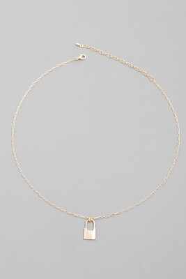 Dainty Padlock Necklace