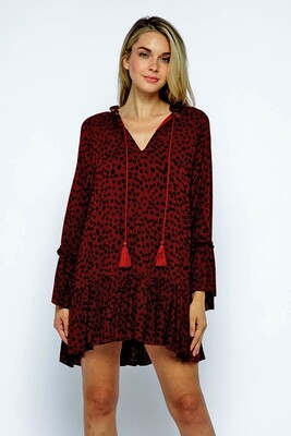 Faith Dress-Burgundy