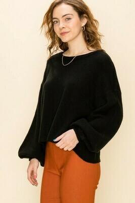 Crop Sweater-Black