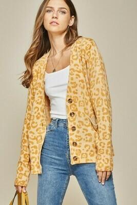 Golden Leopard Cardi