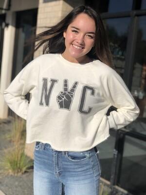 NYC Vintage Crop Sweatshirt