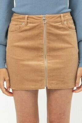 Cord Skirt-Honey