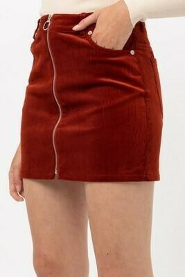 Cord Skirt-Rust