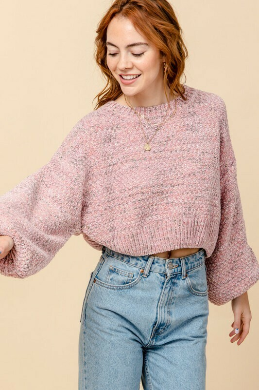 Speckles Sweater-Mauve