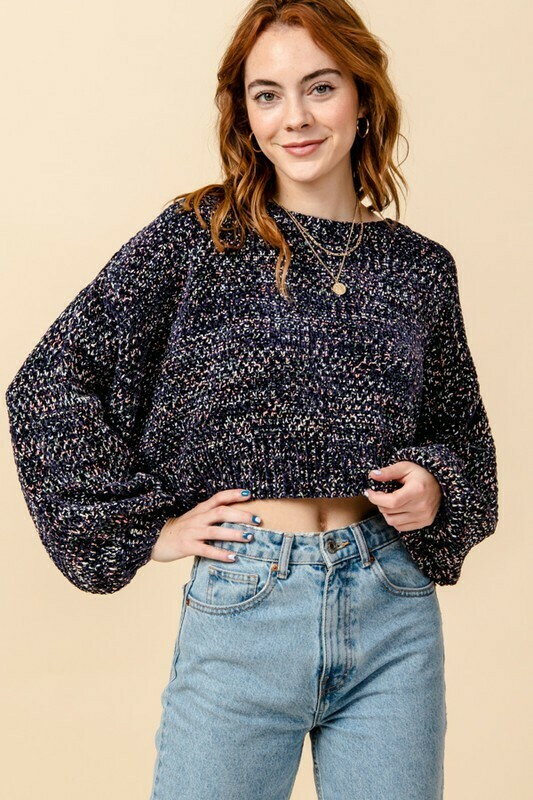 Speckles Sweater-Navy
