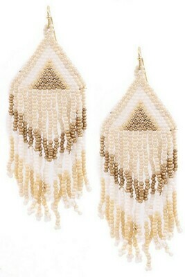 Ivory Beaded Earrings