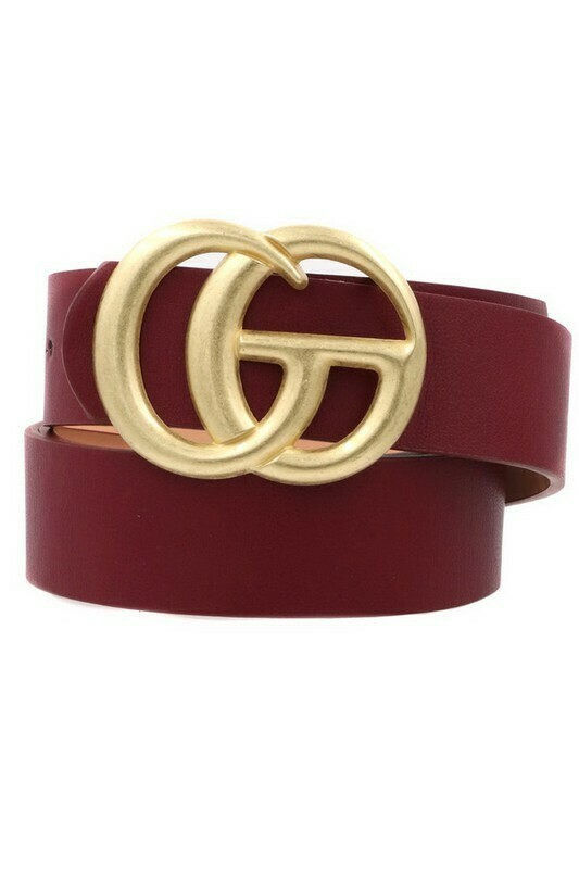 Double G Belt-Wine