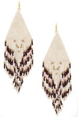 White Beaded Earring