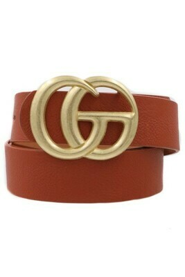 Double G Belt-Brown