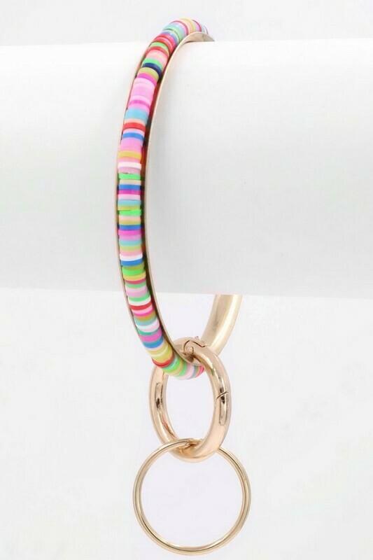 Beaded Bracelet Keychain-Multi