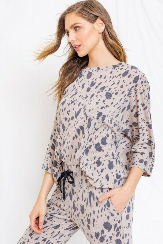 Abstract Print Pullover