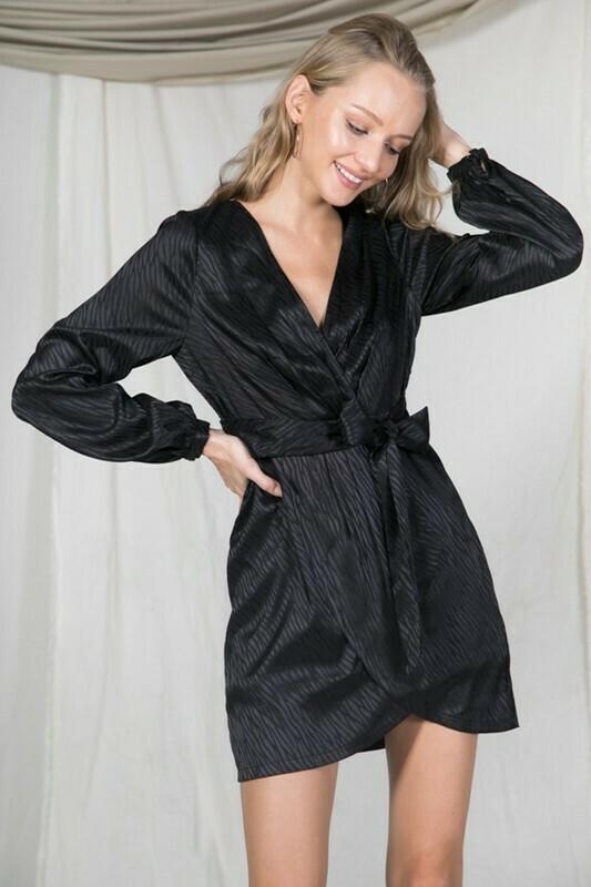 Jamie Silk Dress-Black