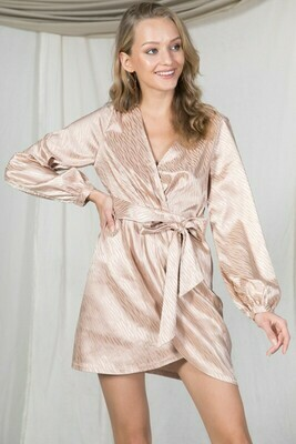 Jamie Silk Dress-Blush