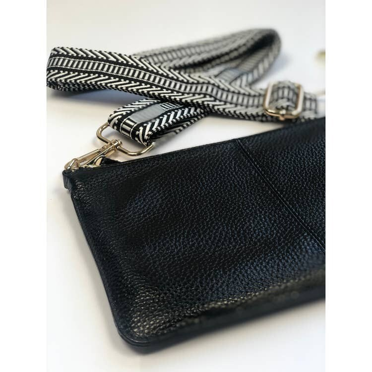 Tonya Leather Crossbody-Blk