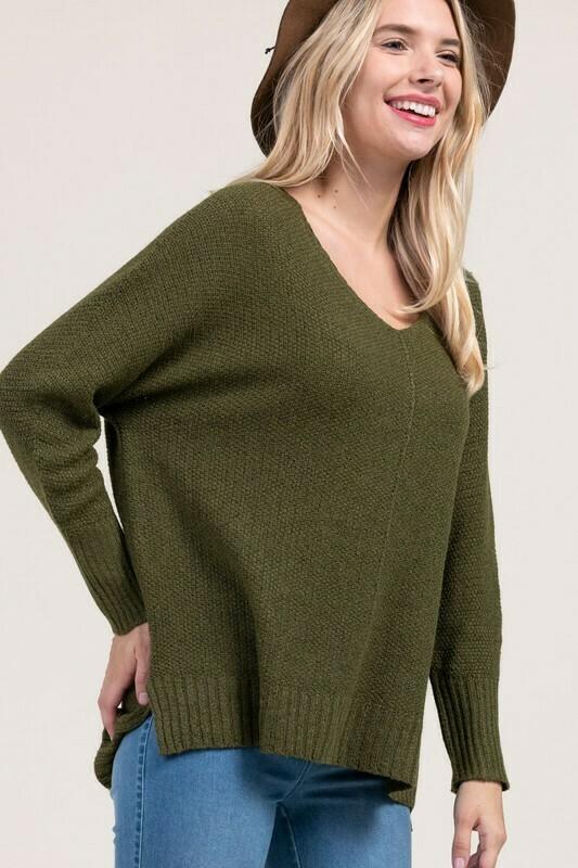 Janelle Sweater-Olive