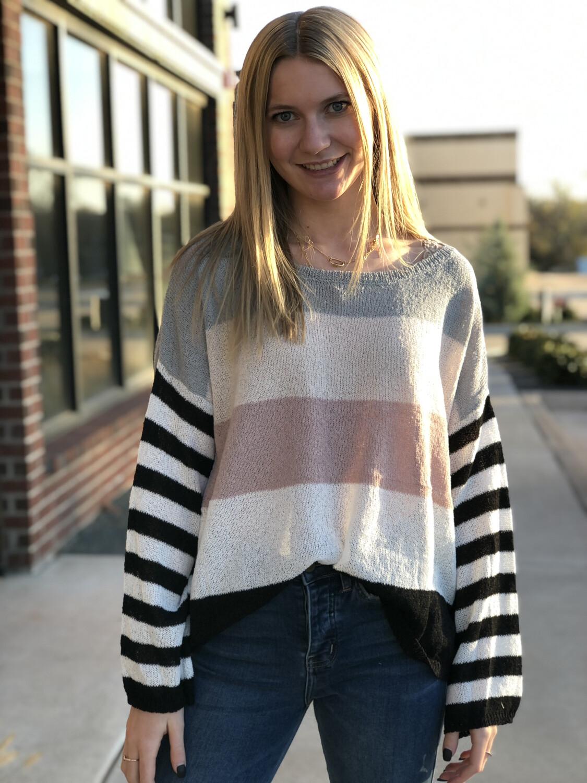 Sabrina Stripe Sweater
