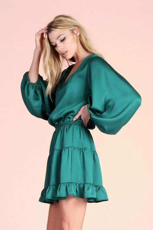 Holidaze Dress-Green