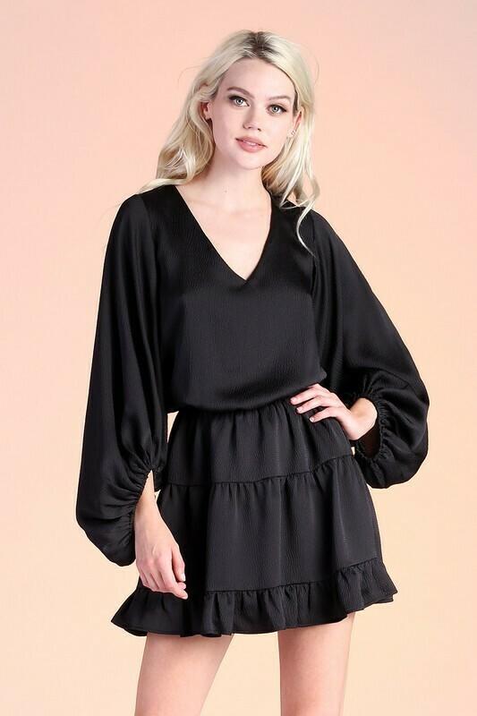 Holidaze Dress-Blk