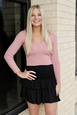 Bodycon Sweater-Pink