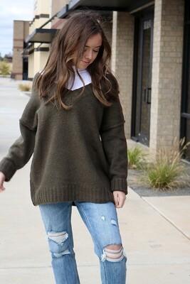 Georgia Sweater-Olive