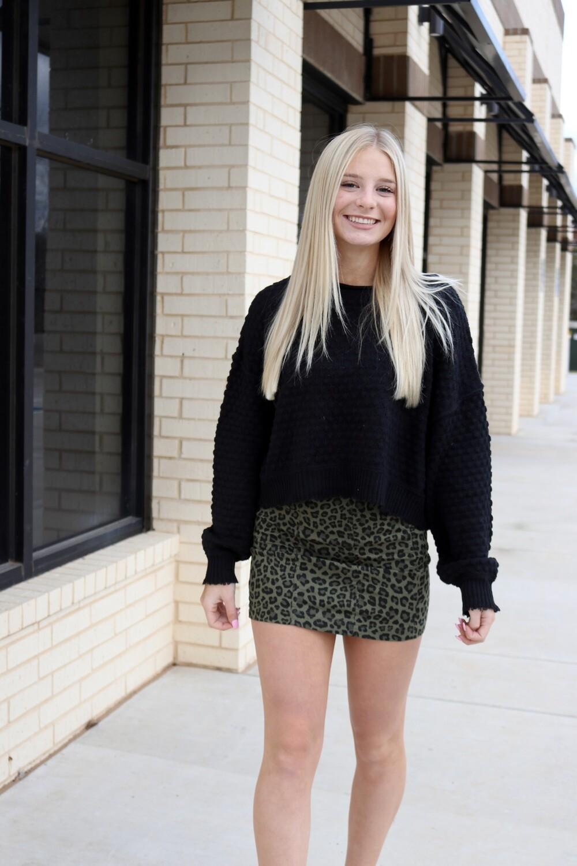 Wild Child Skirt-Olive