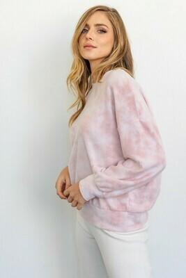 Pink Tie Dye Pullover