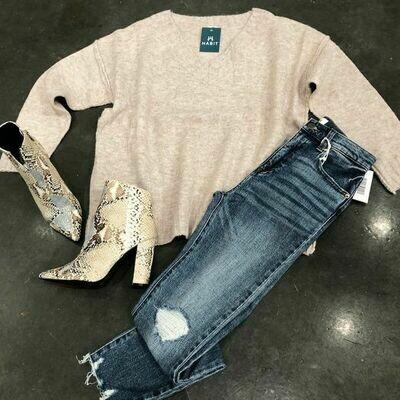 Georgia Sweater-Mauve