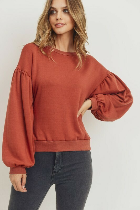 Bella Pullover-Rust