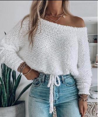 Hallie Sweater-Wht