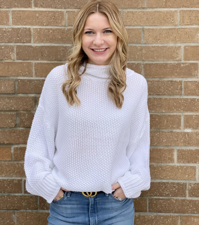 Maryellen Sweater-White