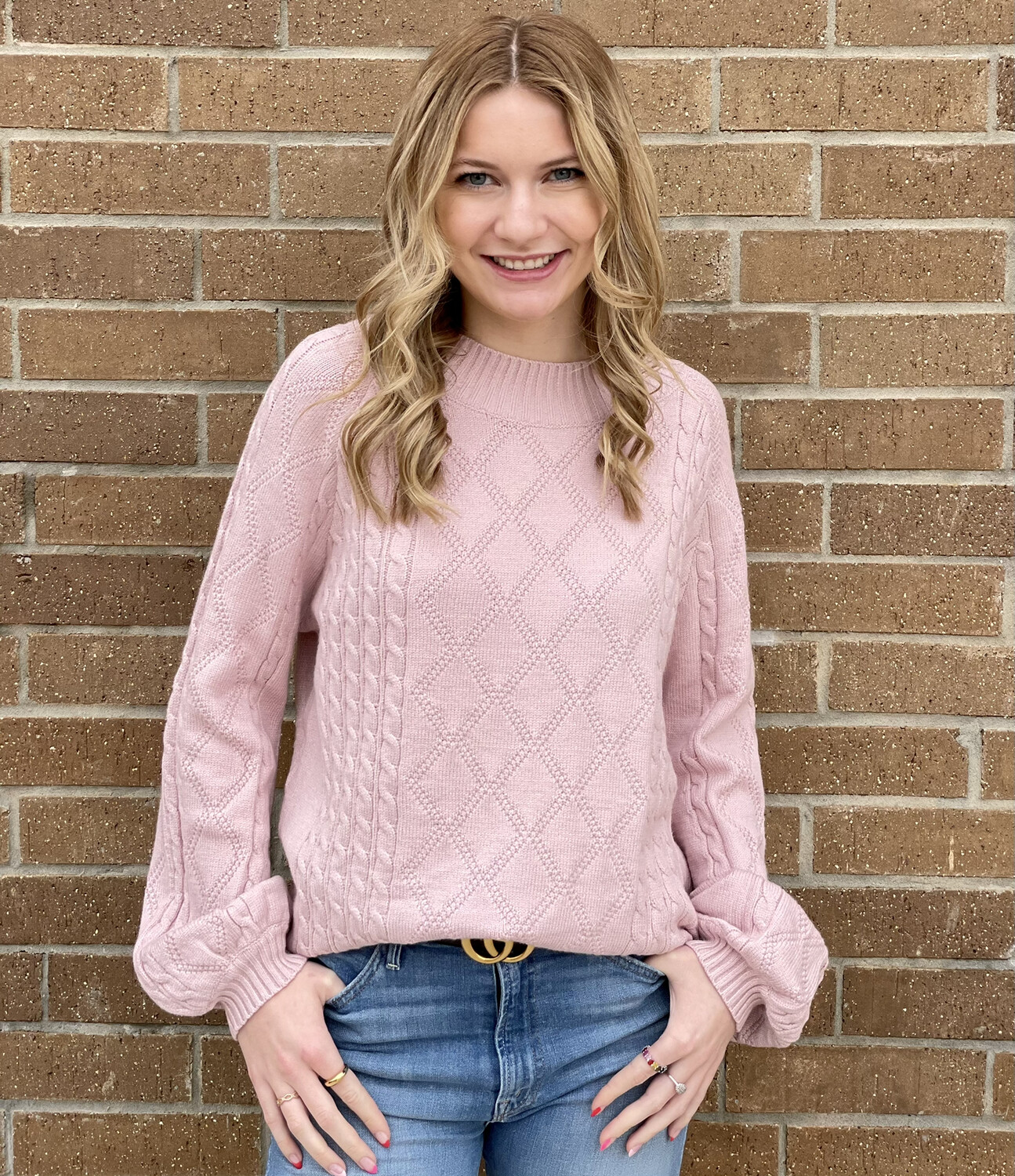 Janie Sweater-Blush
