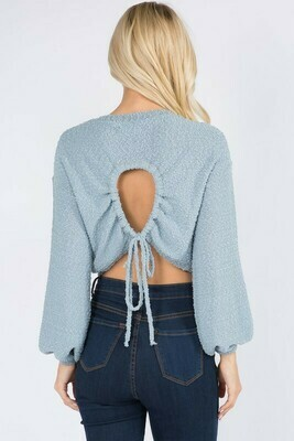 Oh Hey There Sweater-Blue