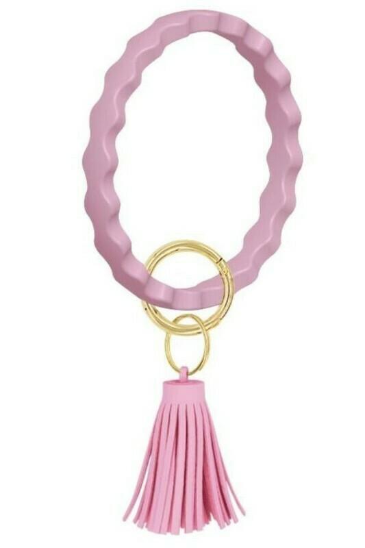 Wavy Keychain-Pink