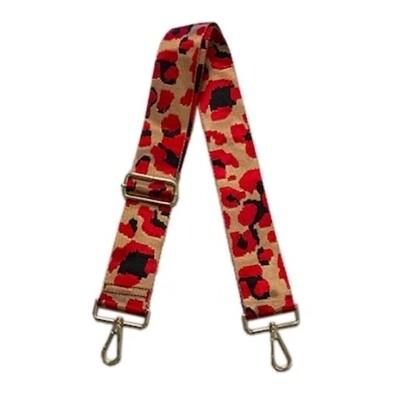 Leopard Strap-Camel Red