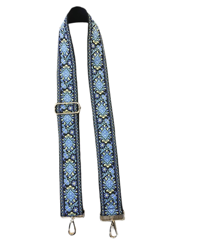 Floral Emb Strap-Blue