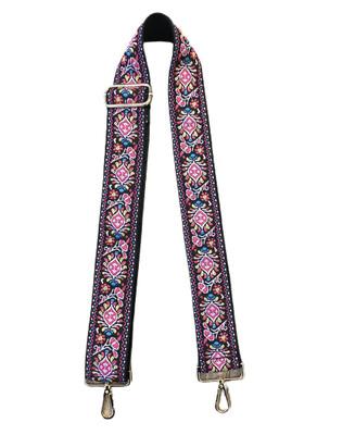 Floral Emb Strap-Pink