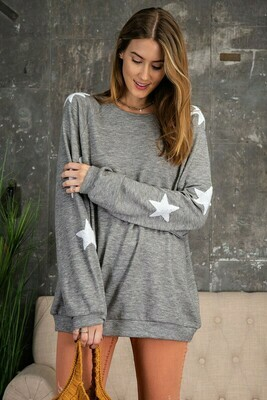 Starry Eyes Pullover-Gry