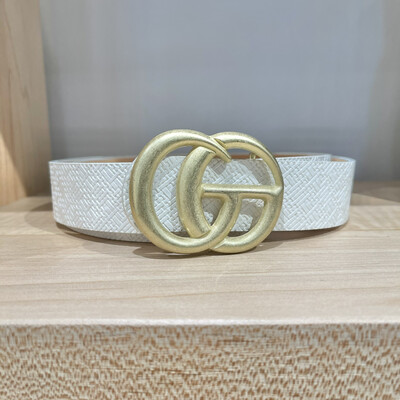 Double G Textured-White