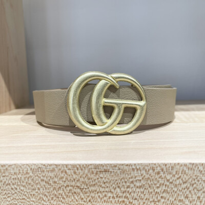 double G Belt-Taupe