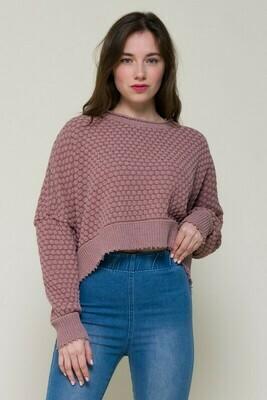 Sarah Beth Sweater-Mauve
