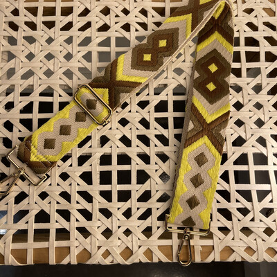 Aztec Strap-Tan/Yellow