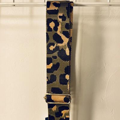 Leopard Bag Strap-Olive