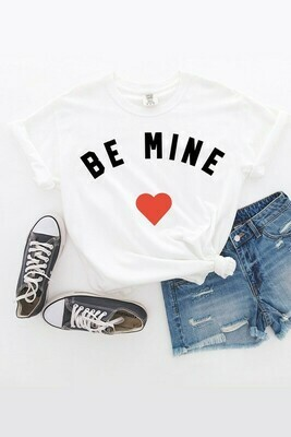 Be Mine Tee-Wht
