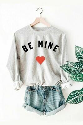 Be Mine Pullover-Gry