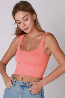 Ribbed Crop-Coral