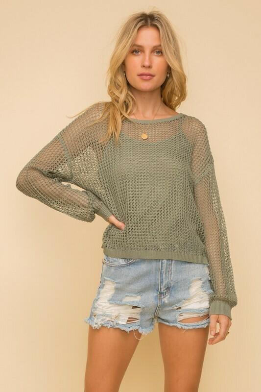 Netti Sweater-Olive