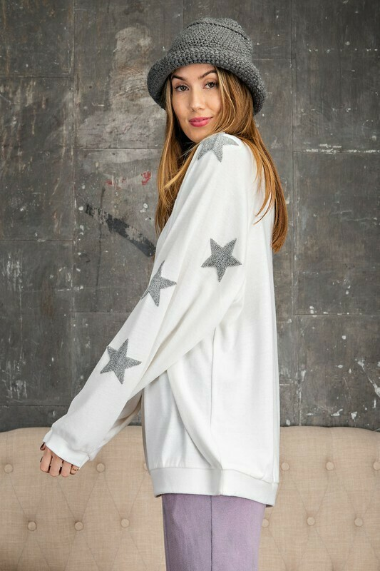 Starry Eyes Pullover-Ivory