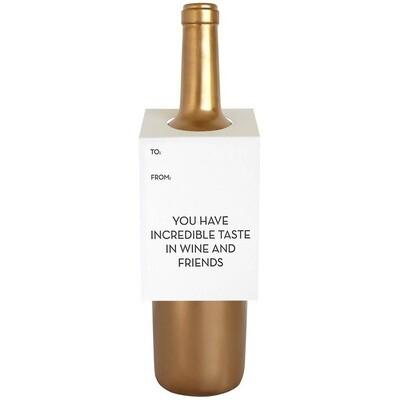 Taste In Friends Wine Card