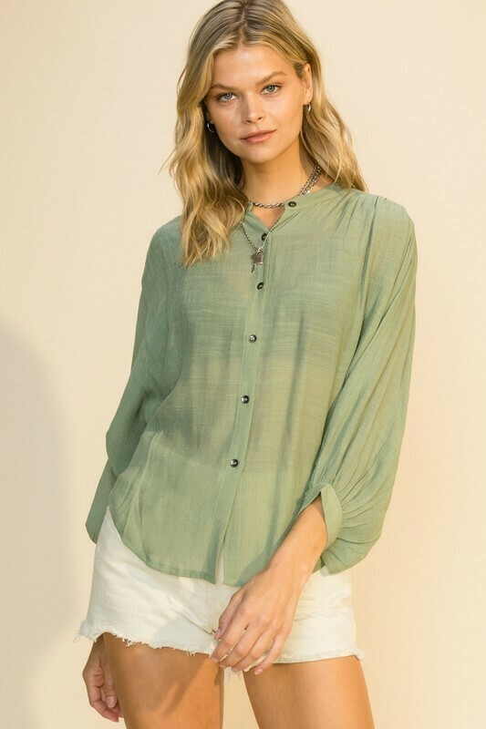 See The Light Blouse-Olive